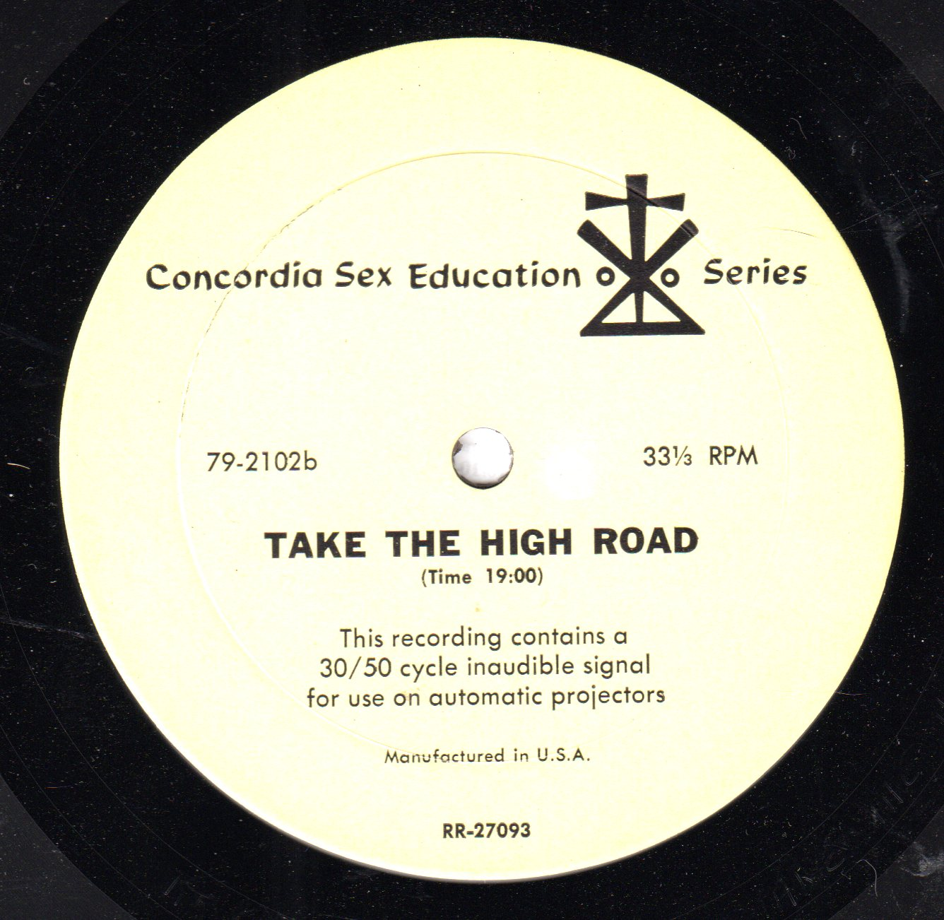 Concordia Sex Education Series: Take the High Road (MP3)