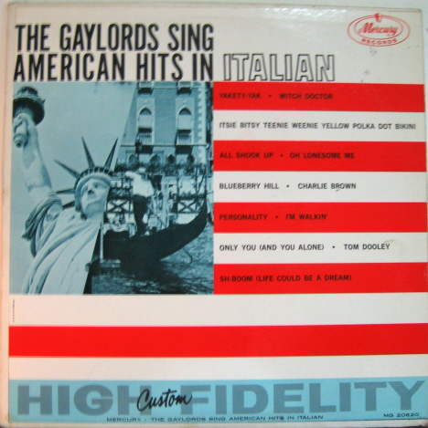 The Gaylords - The Gaylords Sing American Hits In Italian
